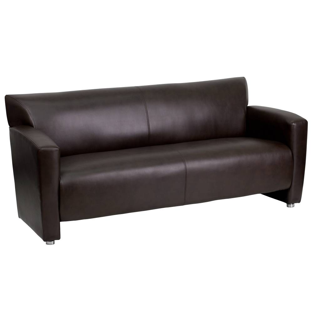 DIONYSUS Ava Brown LeatherSoft Sofa