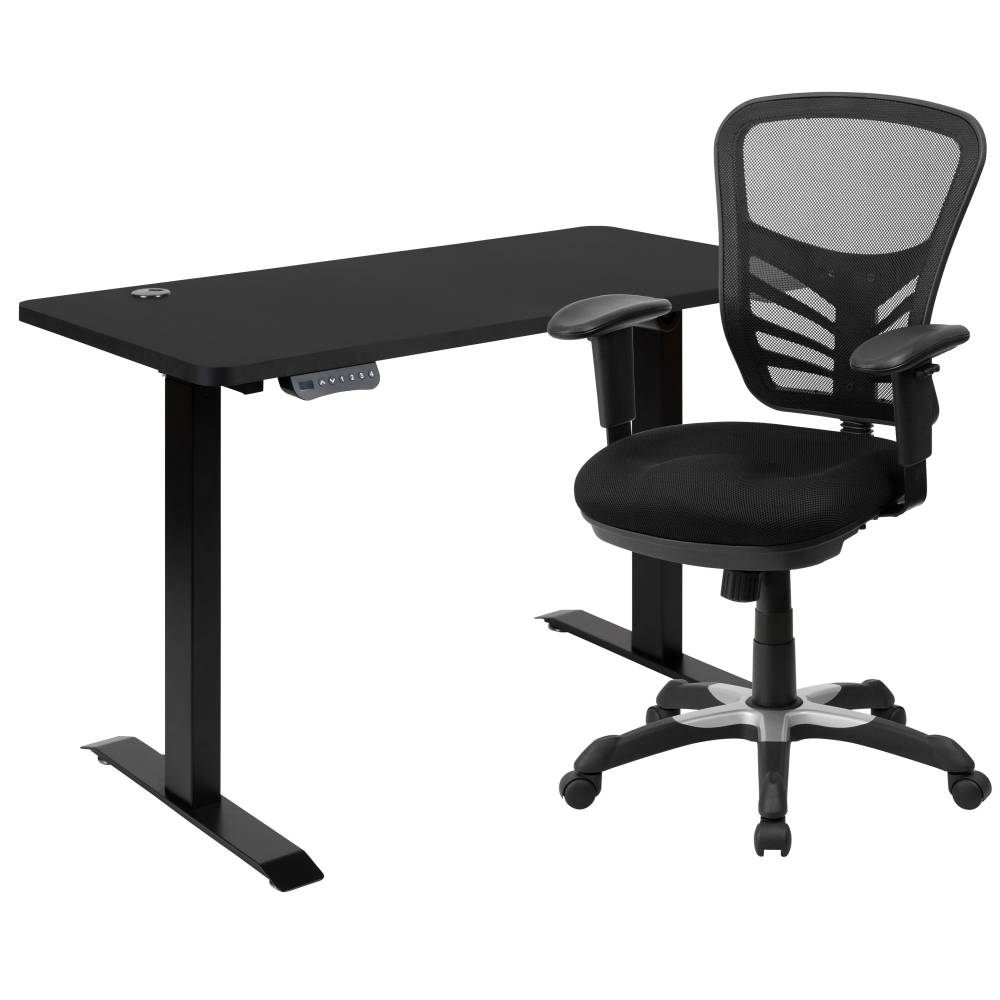 Black Standing Desk & Chair