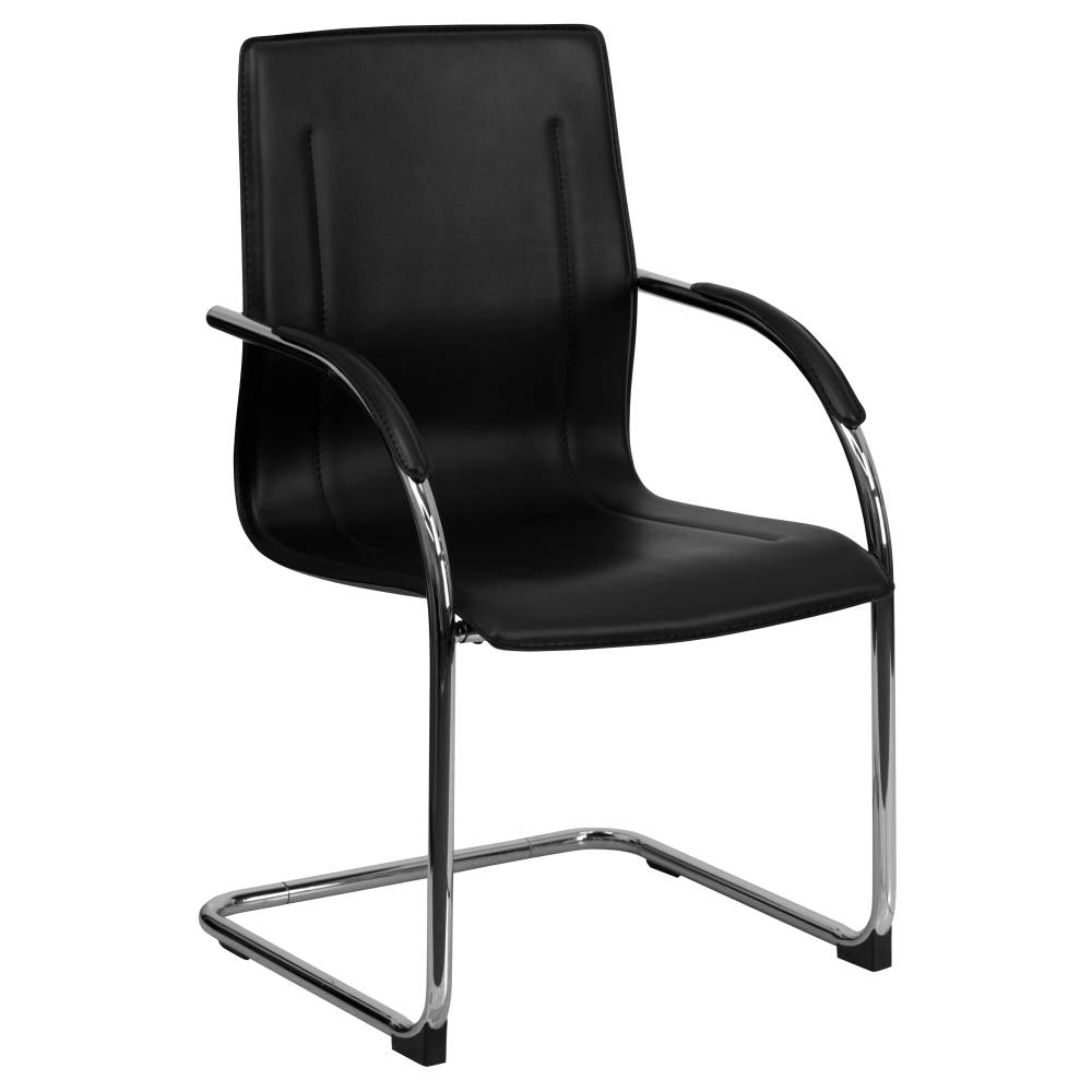 Black Vinyl Side Chair