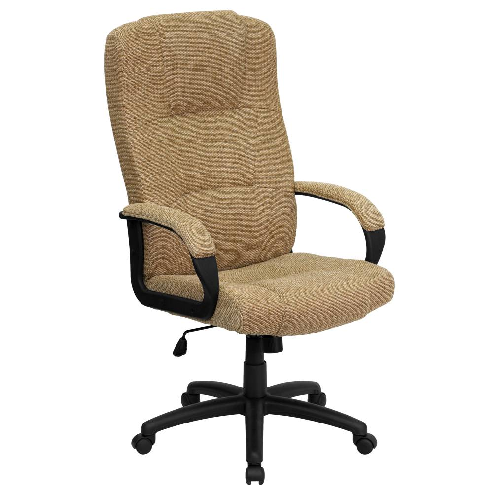 Beige High Back Fabric Chair