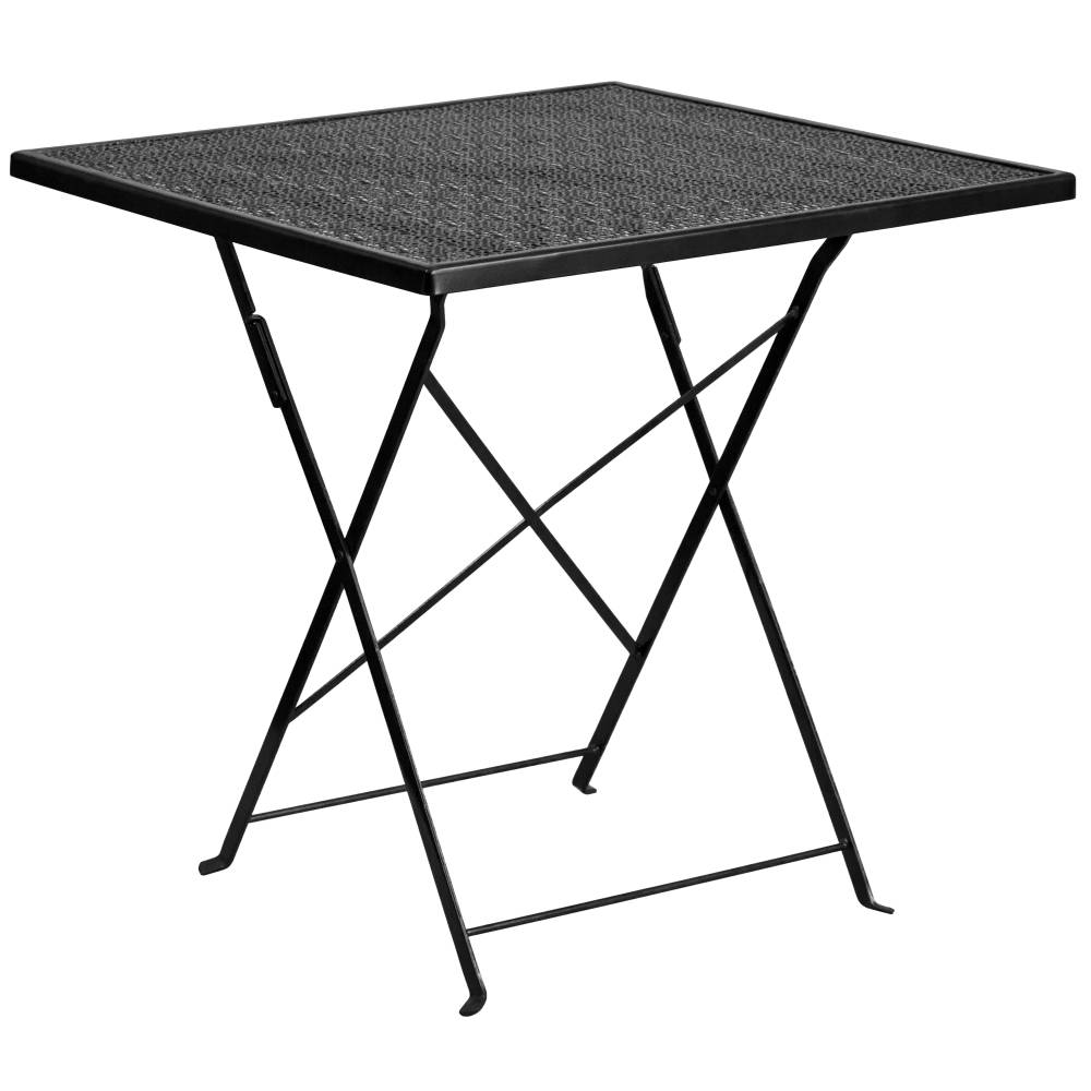 28SQ Black Folding Patio Table