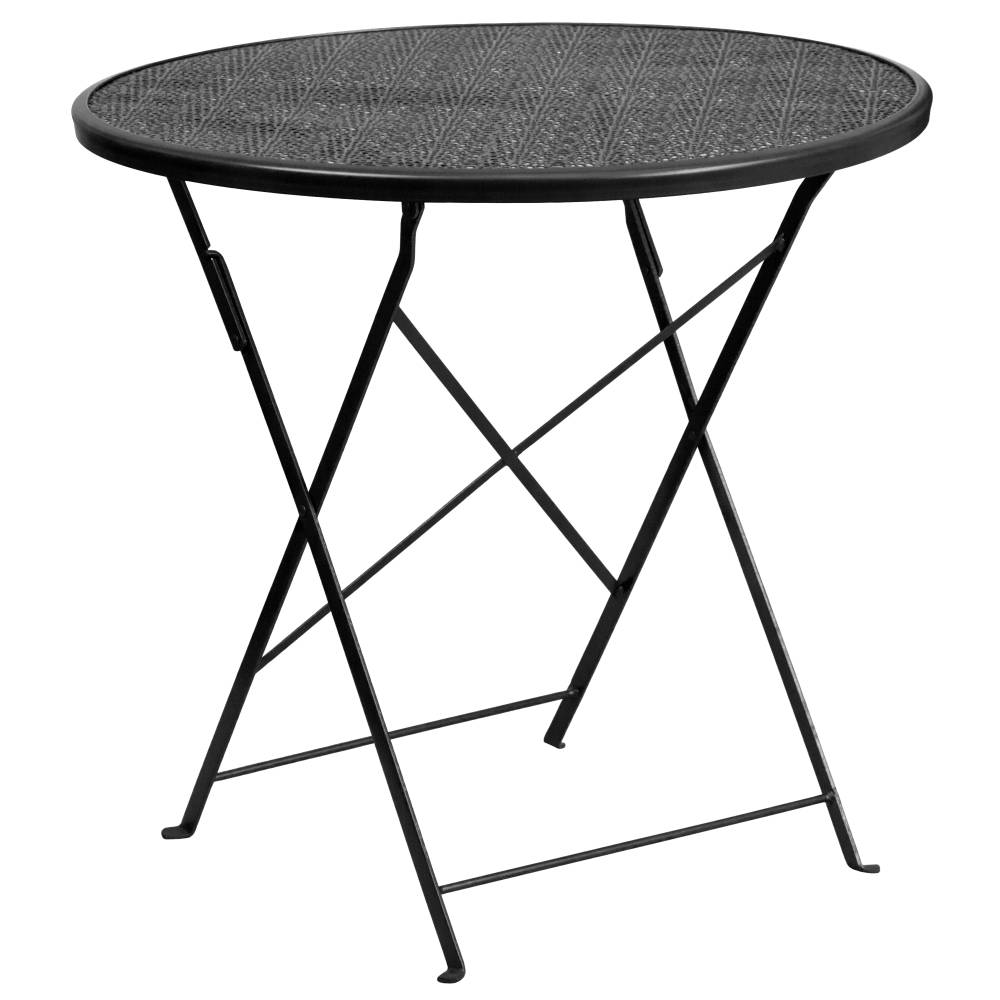 30RD Black Folding Patio Table