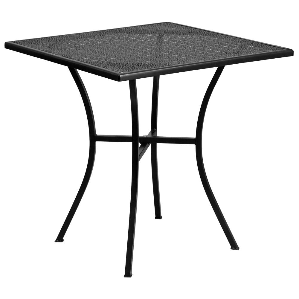 28SQ Black Patio Table