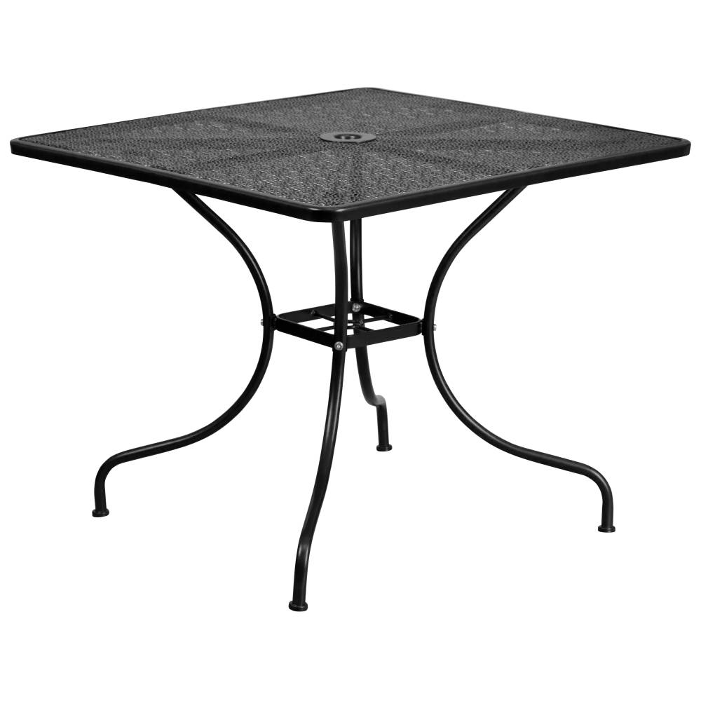 35.5SQ Black Patio Table