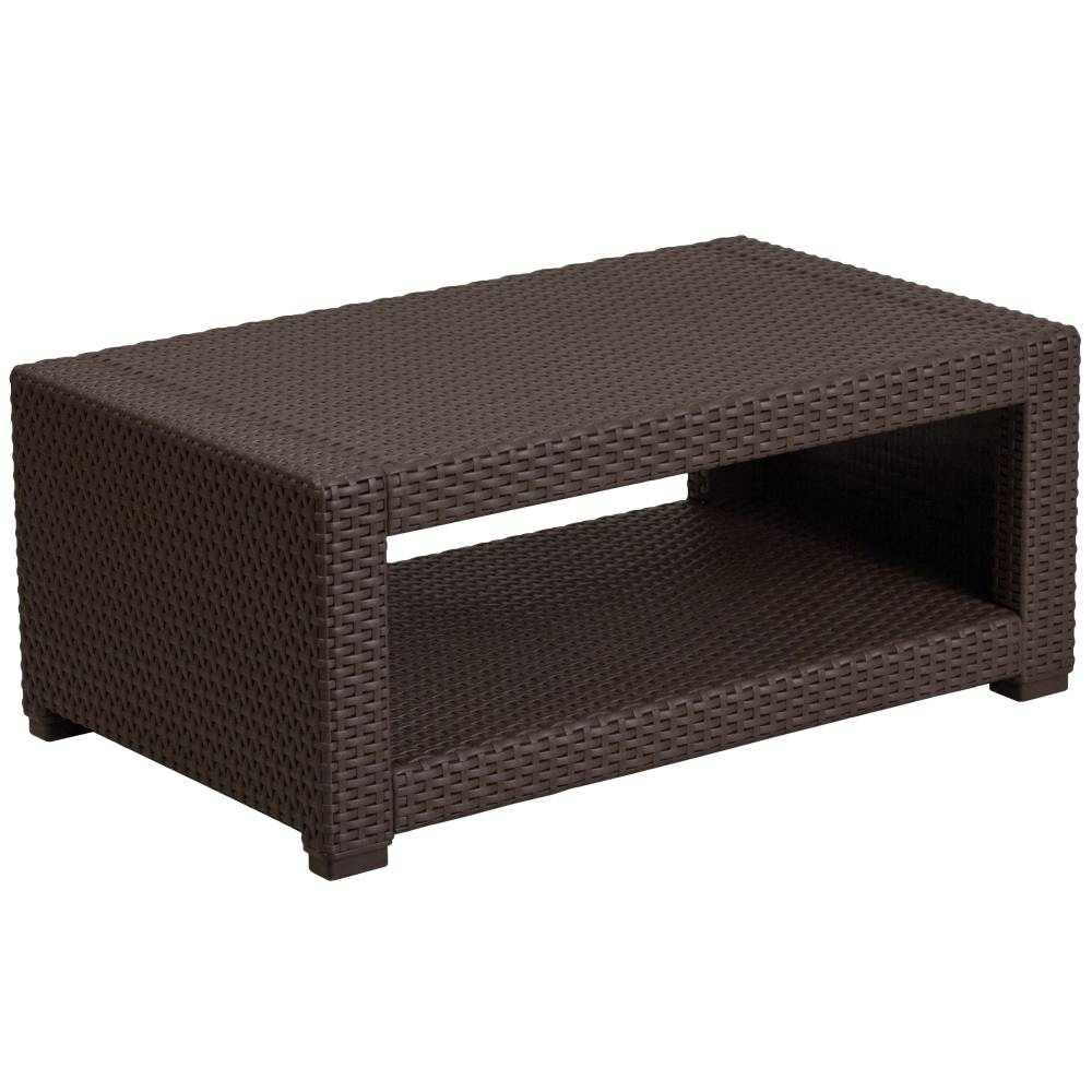 Chocolate Rattan Coffee Table