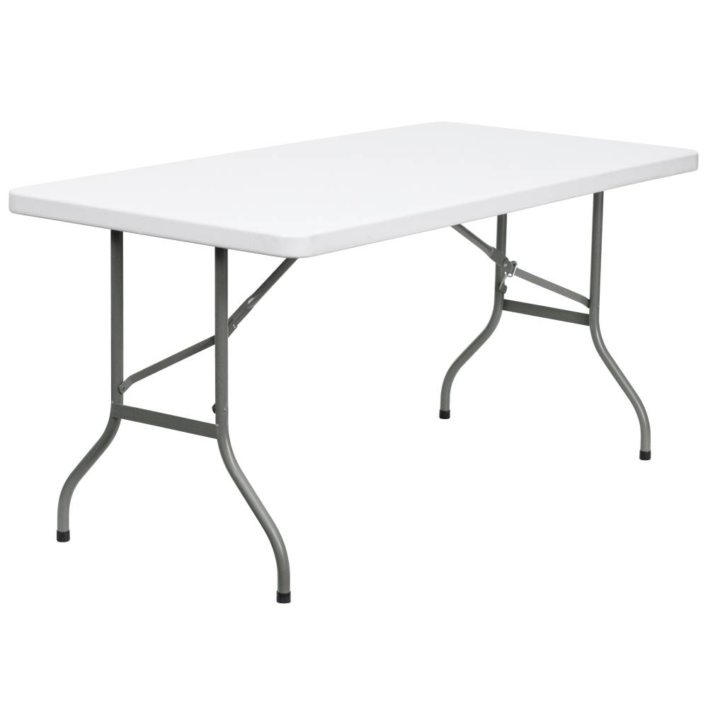 30x60 White Plastic Fold Table