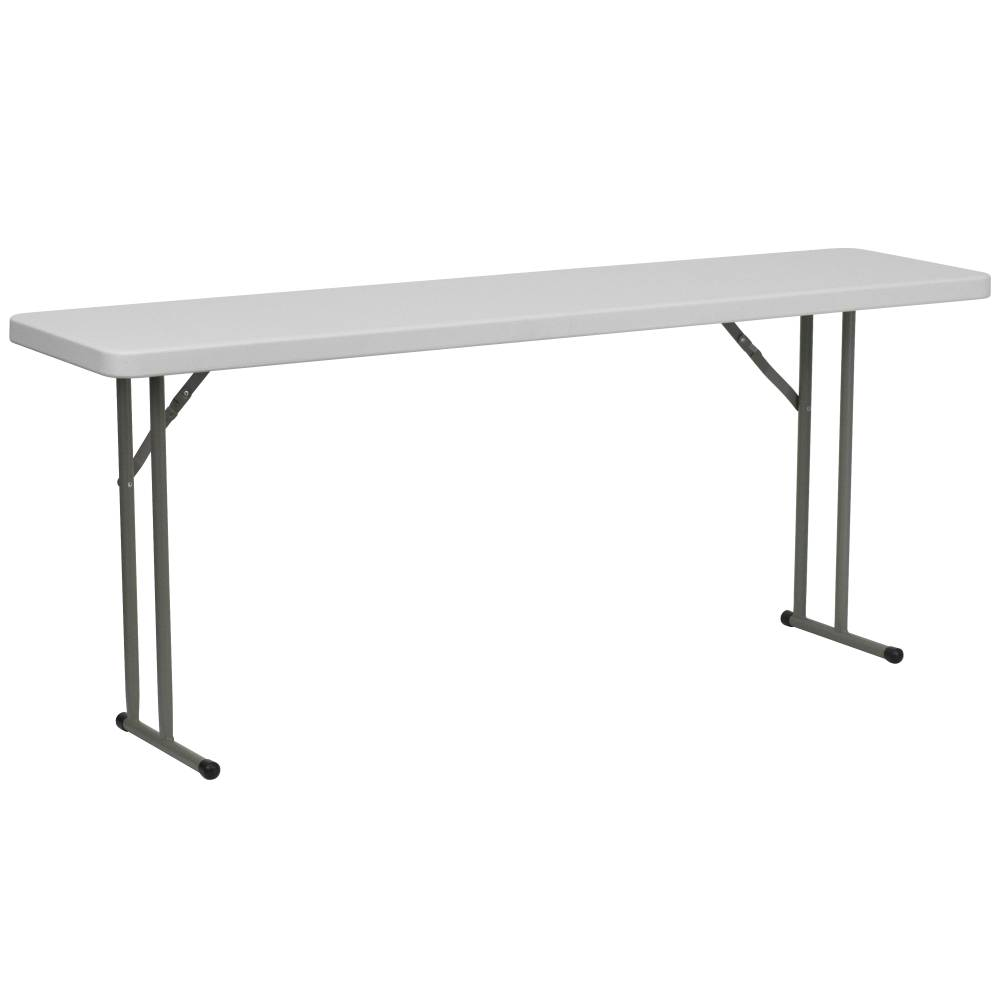 18x72 White Fold Train Table
