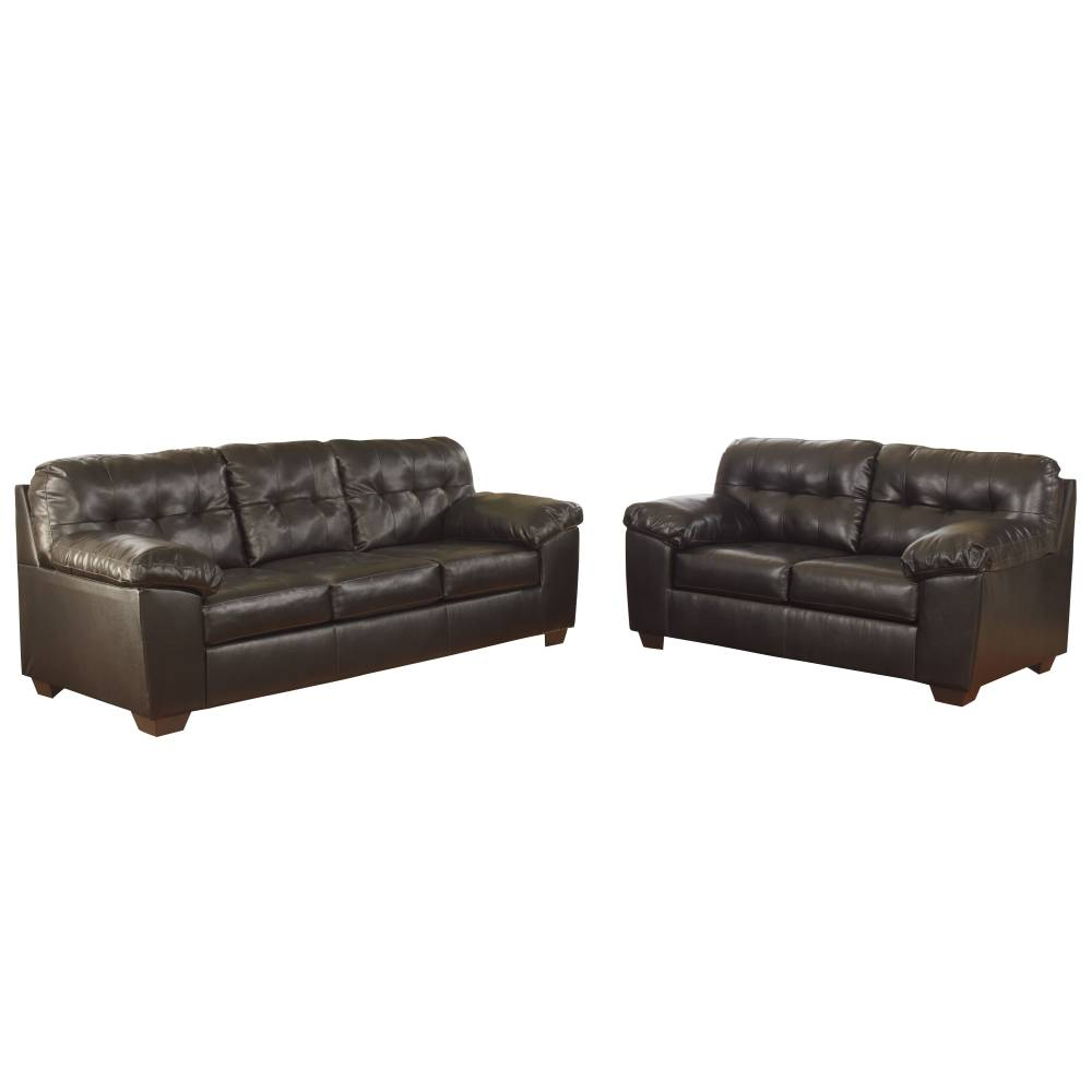 Faux Leather Living Set