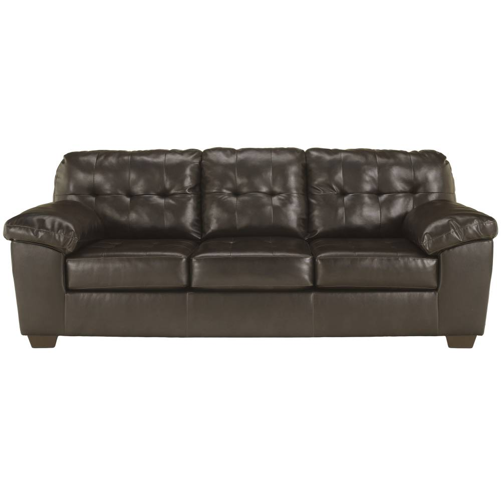 Chocolate Faux Leather Sofa