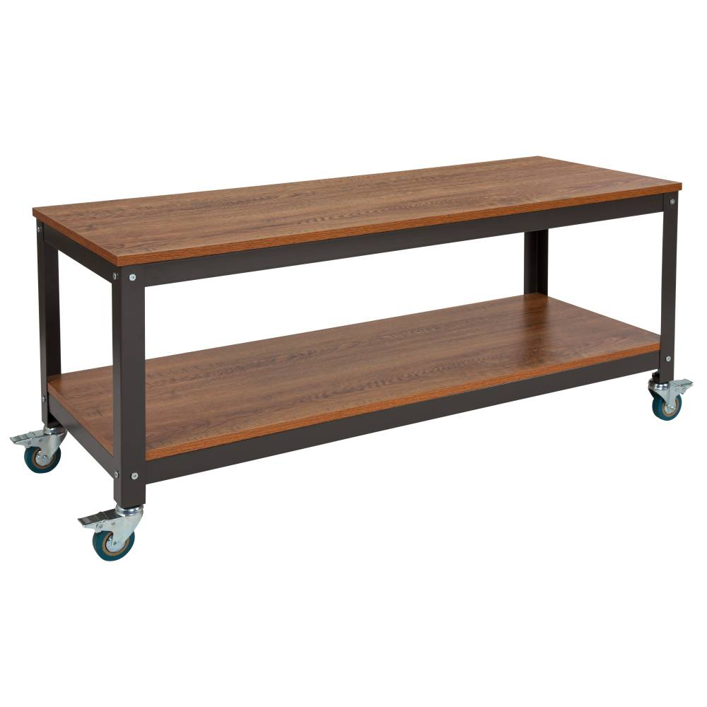 Brown TV Stand with Casters