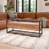 Rustic Glass Coffee Table