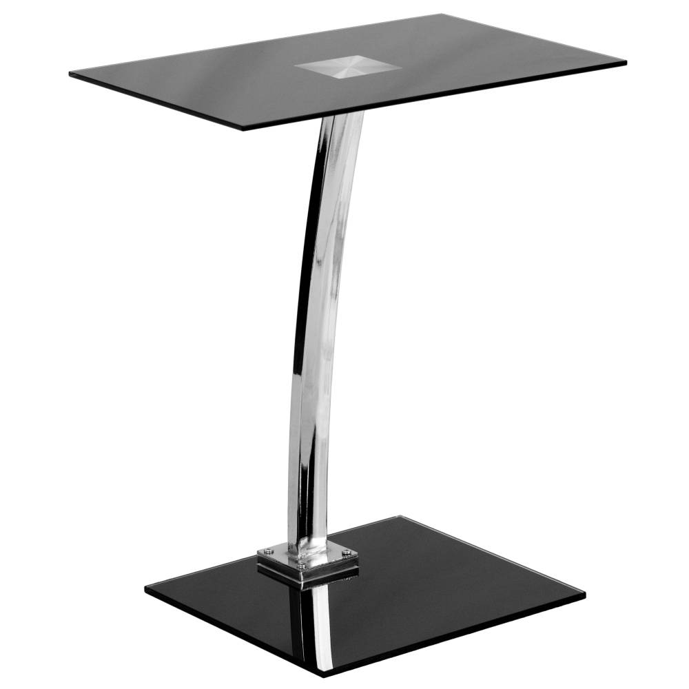 Silk Black Glass Laptop Desk