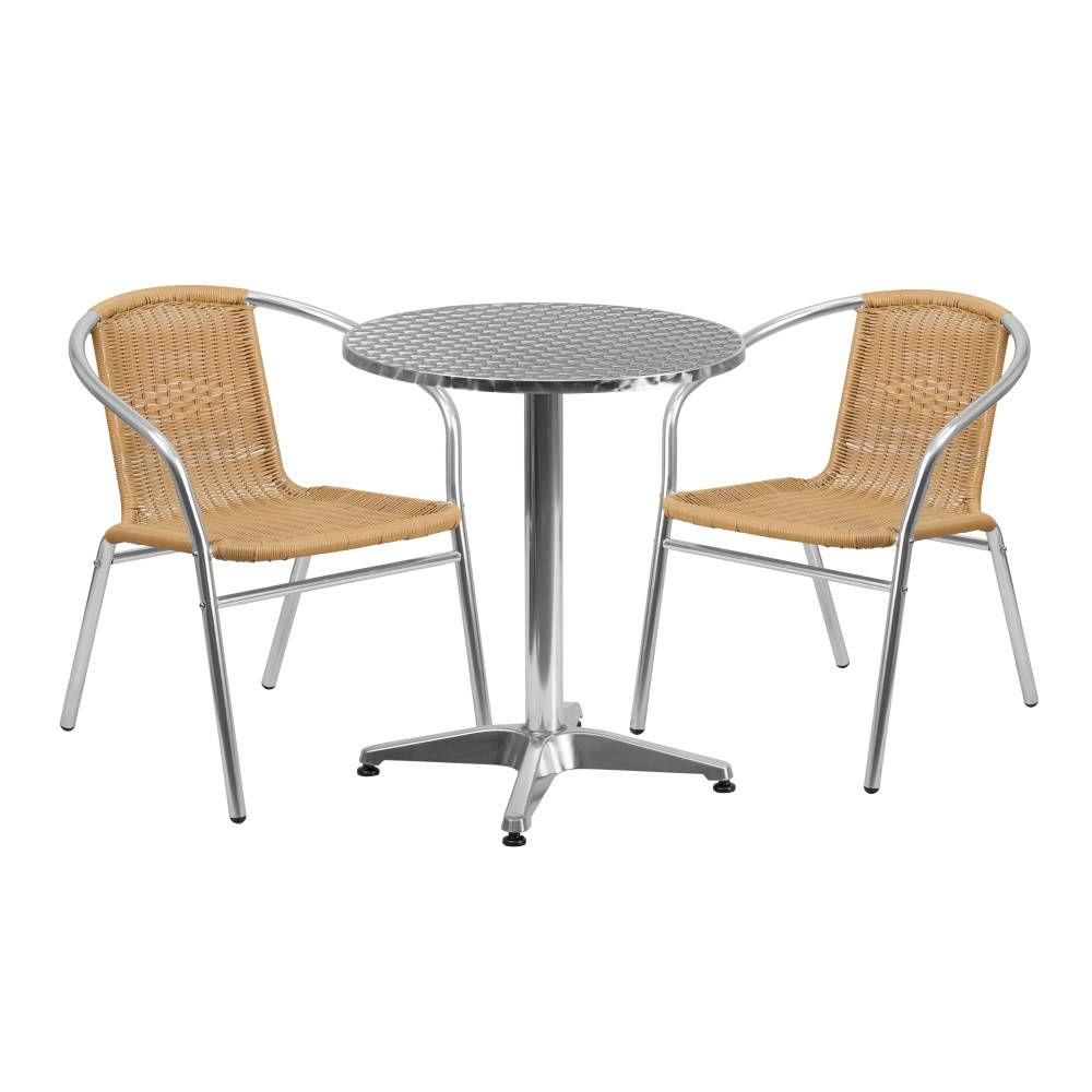 23.5RD Aluminum Table/2 Chairs