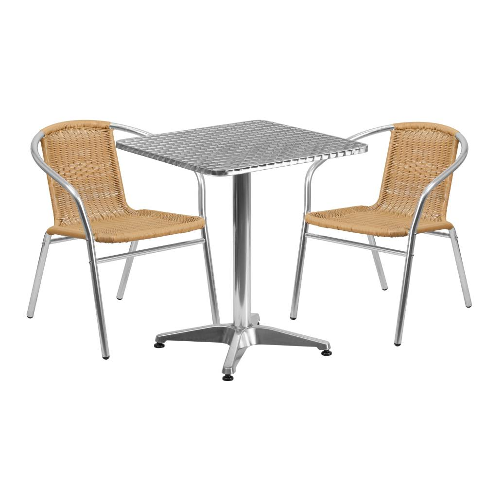 23.5SQ Aluminum Table/2 Chairs