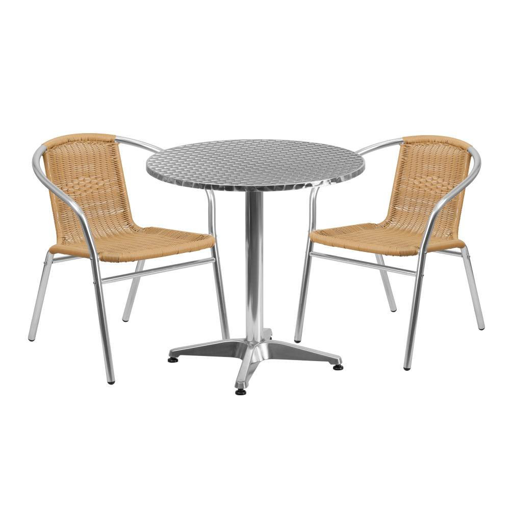 27.5RD Aluminum Table/2 Chairs