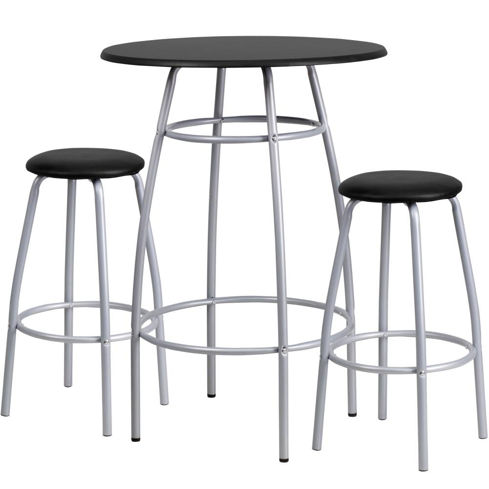 Black Bar Height Table Set