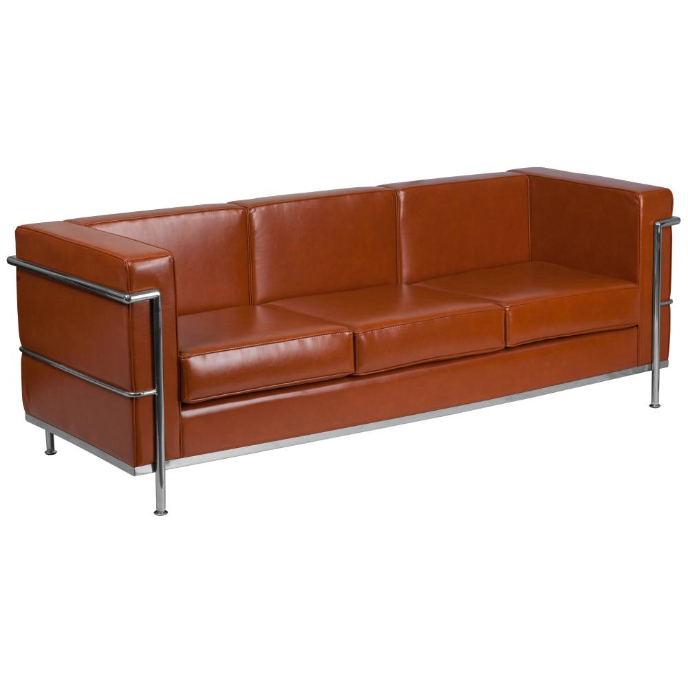 DIONYSUS Throne Cognac LeatherSoft Sofa